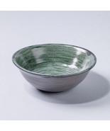 Handmade Rustic Vintage Ceramic bowl Home decor textured green gray glaze - $16.00