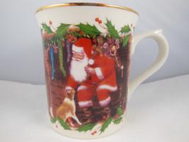 Lenox Santa's Holiday Journey A Friend To All Dog Cat Christmas Mug Cup PRETTY! - $11.87