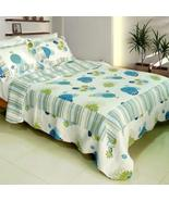 [Fresh Sound] Cotton 3PC Vermicelli-Quilted Printed Quilt Set (Full/Quee... - $82.64