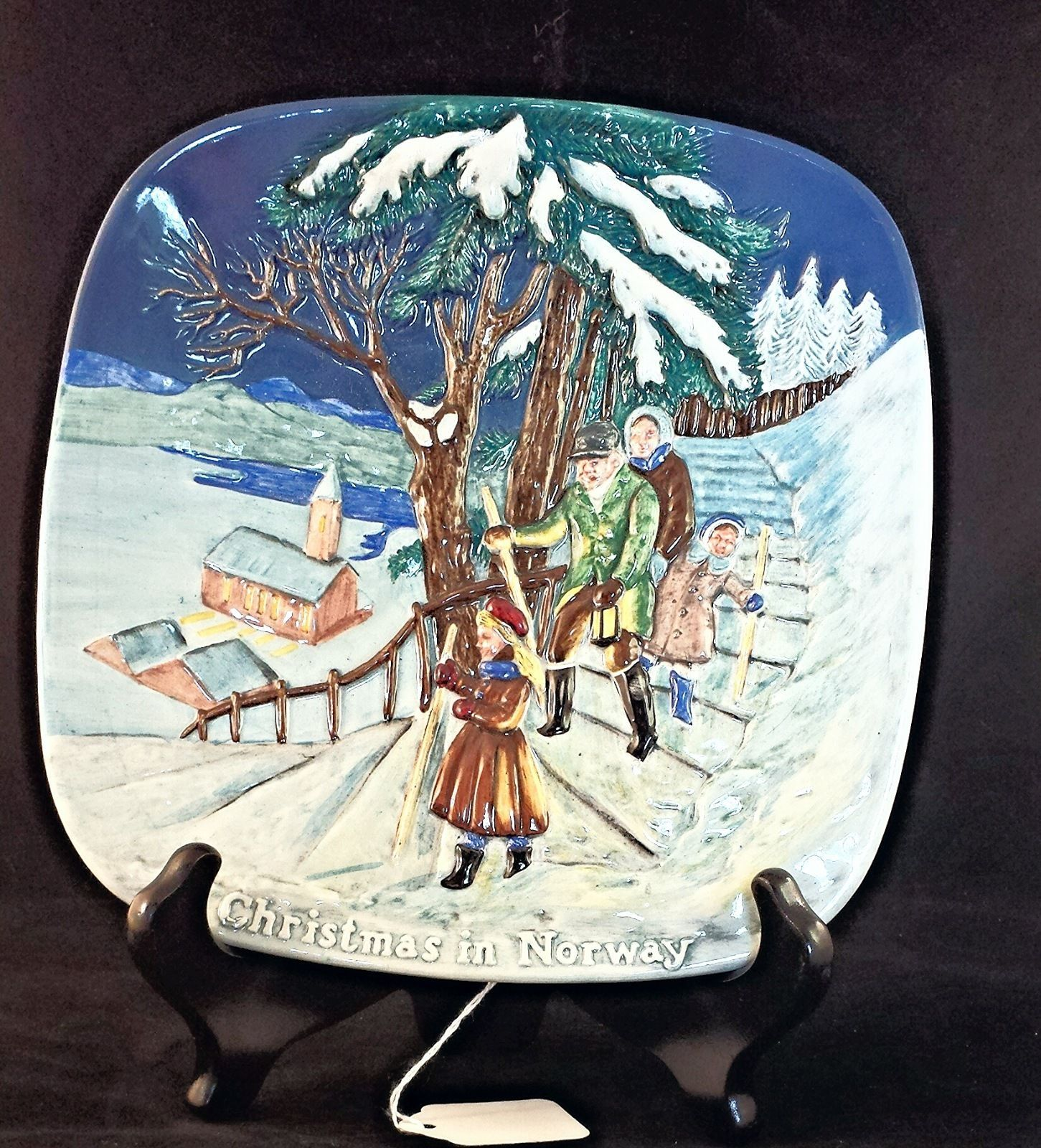 Christmas Around the World Royal Doulton Display Plate 3D 1975 Norway USA Seller