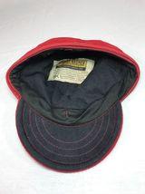 Stormy Kromer Cap Red Black Sz Wool Made in USA Hat Baseball Engineer 6 7/8 image 8