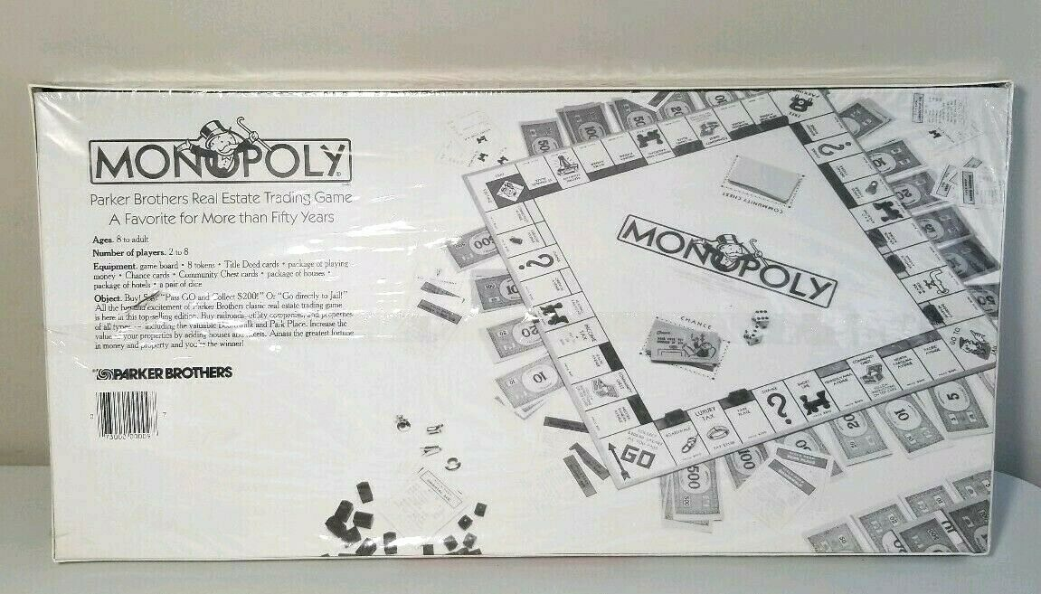 Monopoly Parker Brothers Vintage Estate Trading Game 1985 Board Game New Sealed