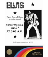 Elvis Presley 20 x 30 Labor Day 1973 3AM Hilton Hotel Reproduction Poster - $50.00