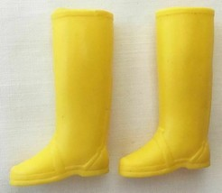 Vintage Barbie Yellow Rain Boots  234-12 - $15.00