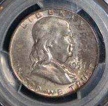 1957 D MS 66 Full Bell Line PCGS Franklin Half Dollar - $187.11