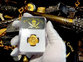 "SPAIN 2 ESCUDOS 1614 ""ATOCHA ERA"" NGC 45 DATED PIRATE GOLD COINS SHIPWRE... - $3,950.00"