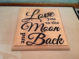 Elf Works Lane Satellite Workshop Custom Sign Love You To The Moon And Back
