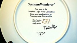 """Autumn Wanderer"" by Thornton Utz Plate with Viletta Box USA AA20-CP2230 Vintage image 5"