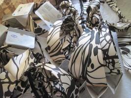 Goody Silky Fabric Wide Head Band Beige With Dark Designs Tie Back Bow Headband - $6.00