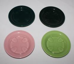 4 Coasters Casual California Vernon Kilns Metlox Vernonware USA Green Da... - $39.55
