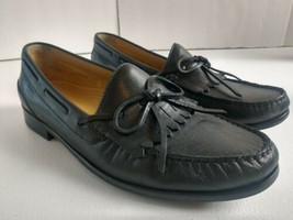 Cole Haan Dress Loafer Mens Size 8.5 M Black Leather Kiltie Loafers Shoe... - $19.24