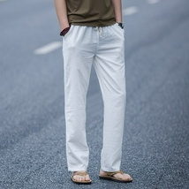 Men's Comfort Linen Casual Loose Pants image 6