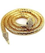 Edith Qi Queen Bendable Snake Necklace Choker Bracelet Twistable Waistb... - $37.69