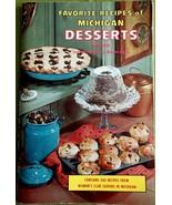 Vintage Favorite Recipes of Michigan  Desserts Edition Good Condition   - $8.86