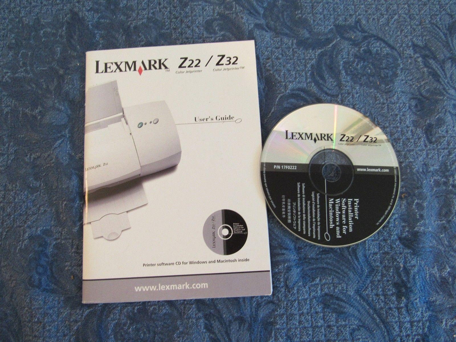 Lexmark Z22, Z32 Driver Software & User Guide For Windows & Mac