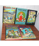 5 Vintage Raggedy Ann Books 1960s HC Picture Cover Golden Woods  Group 3 - $34.65