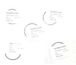 LOT OF 5 NEW WATERS 7000001056 DEGASSED O-RINGS SIZE: 42X1.5MM, P/N: 5711979