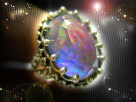 Haunted Ring Sorcerer's Mirror Reflect All Magnified Power Secret Ooak Magick - $9,007.77