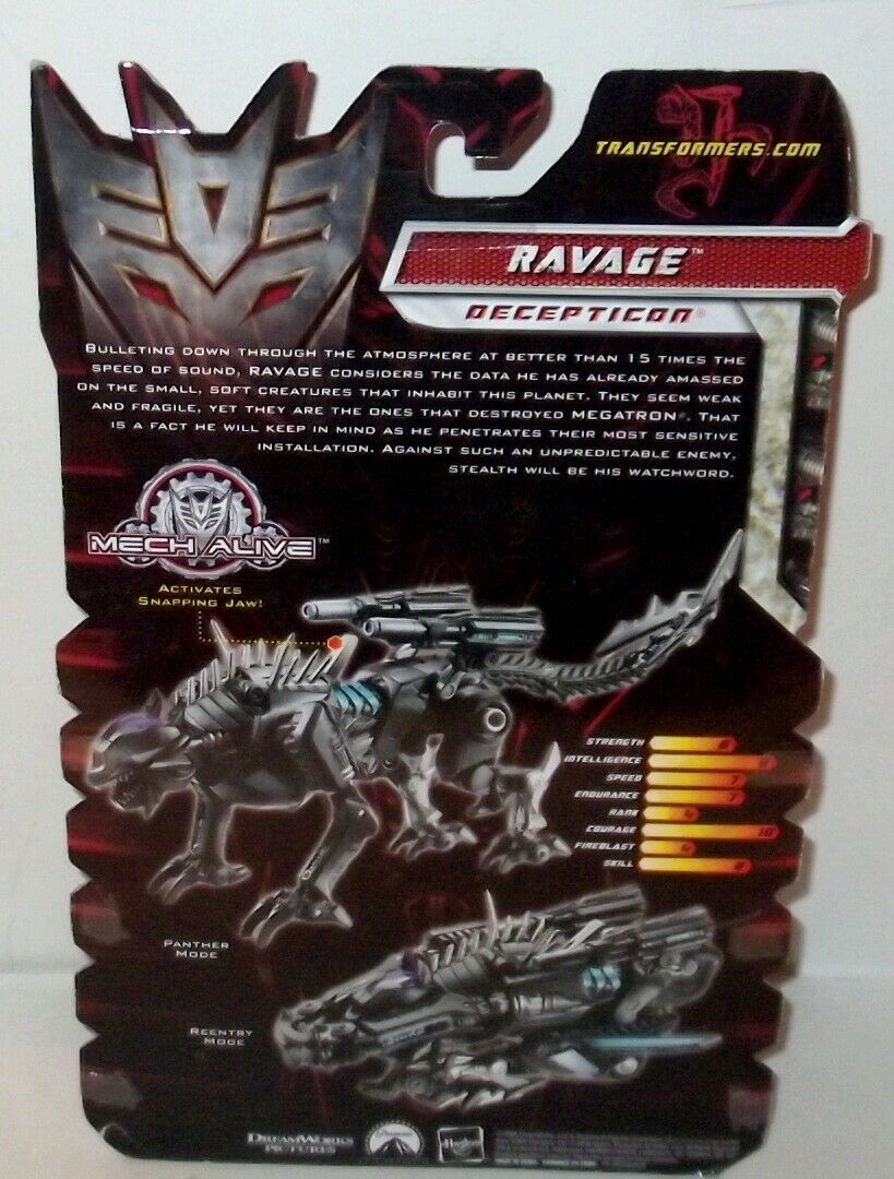 ✰ 2008 Transformers ROTF Revenge of the Fallen RAVAGE Deluxe Class Sealed MOC image 3