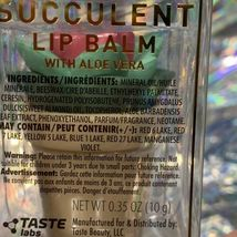 New In Box Taste Labs Vanilla Flavored WHAT UP SUCCA Succulent Lip Balm W Aloe image 6