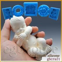 3D Silicone Soap/sugar/fondant/chocolat Mold-Lifelike / Newborn Baby Jayden - ₨3,243.47 INR