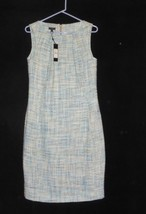 NWT Talbots Sleeveless Blue A Line String Dress Size 8 $149 NEW SPRING - $59.35