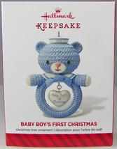BABY BOY'S FIRST CHRISTMAS 2014 Hallmark Holiday Ornament NIB Blue Sailo... - $7.03