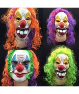 Adult Costume Masquerade Face Party Cosplay Carnival Fancy Mask Clown Bi... - $7.57