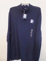 Men's Size 4XB 60% OFF Mock Turtleneck Sweater Dark Blue w/Zipper Neck N... - $23.76
