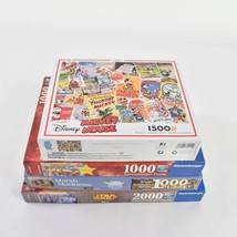 Lot 4 Mixed Brands 1000 1500 2000 Ravensburger Ceaco White Mountain Puzzles - $24.74