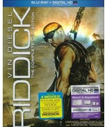 Riddick: The Complete Collection (Blu-ray Disc, 2014, 3-Disc Set, Unrated) - $27.95
