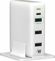 43 vatios cargador de 4 puertos USB-C con QC 3.0 para Samsung iPhone LG HTC Moto - $12.19
