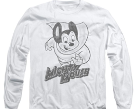 Mighty Mouse superhero Retro Saturday cartoon classics long sleeve tee CBS1136 image 2
