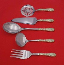 Rose by Stieff Sterling Silver Thanksgiving Serving Set 5-Piece Custom Made - $359.00