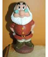 "Vintage  Dwarf Doc Rubber Squeak Toy 5.5"" Walt Disney Productions 7 dwar... - $13.49"