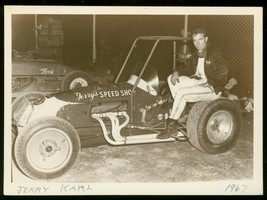 JERRY KARL #5 USAC SPRINT CAR RACE PHOTO 5x7 WMS GROVE VG - $21.83