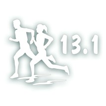 Marathon 13.1 COUPLE man woman girl running decal for Olympic mile runne... - $8.83