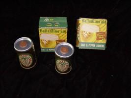 Ballantine Ale Salt & Pepper Shakers beer premium - $18.99