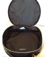 Lancome Big Black Round Makeup Bag Travel Case With Rose Zippered Round,... - $23.00