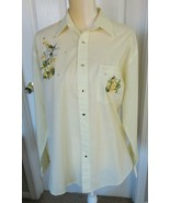 Las Olas  Embroidered Embellished Long sleeve Button shirt size M - $7.99