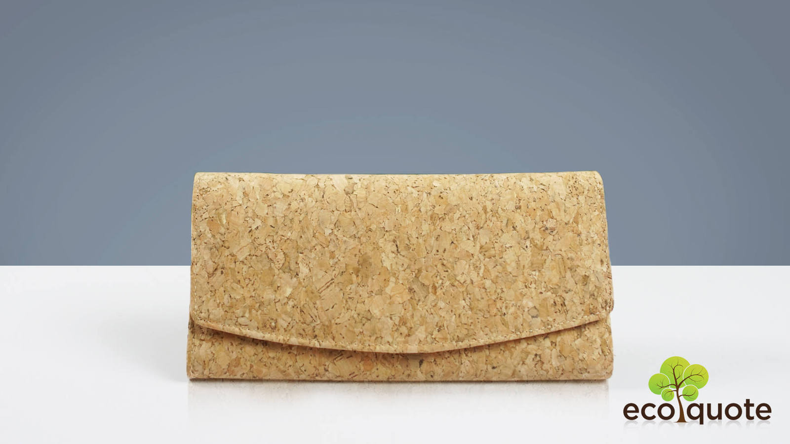 EcoQuote EcofriendlyTri Fold Long Wallet Handmade Cork Material Great for Vegan
