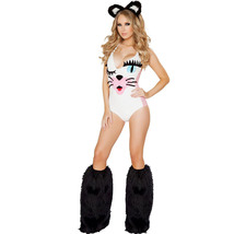 Adult Women Sexy Cat Animal Cosplay Halloween Catwoman Costume - $36.41
