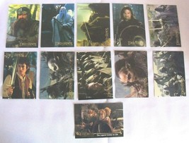 11 Lord of the Rings Trading Cards - $7.91