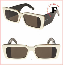 GUCCI 0543 Ivory Black Oversized Chunky Geometric Sunglasses GG0543S Unisex - $445.50