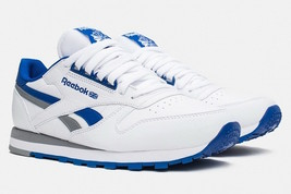 Mens Reebok Classic RE Heritage Sneakers - White/Blue/Grey Size 7 [M45716] - $69.99