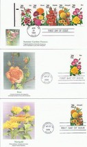 6 Fdc 1994 29C Summer Garden Flowers Rose Zinnia Lily Gladiola Free Shipping 152 - $13.86