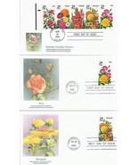 6 FDC 1994 29C SUMMER GARDEN FLOWERS ROSE ZINNIA LILY GLADIOLA FREE SHIP... - $13.86