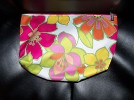Clinique Flower Cosmetic/Make Up Bag Euc - $13.60