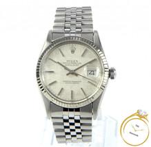 Men's Rolex Datejust 36mm Silver Linen Dial Ref. 16014 - $4,190.00