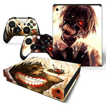 Xbox One X Wicked Ghoul Console & 2 Controllers Decal Vinyl Skin Art Sti... - $12.84